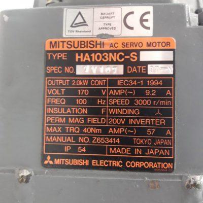Mitsubishi AC Servomotor HA103NC-S