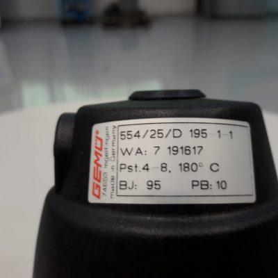 Gemü Schrägsitzventil 554/25/D 195-1-1