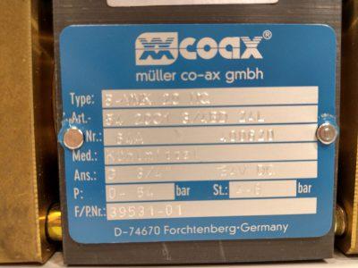 Müller co-ax Hydraulikventil MK20NC