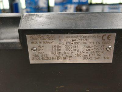 Siemens Servomotor 1FT6062-1AF71-4AH1