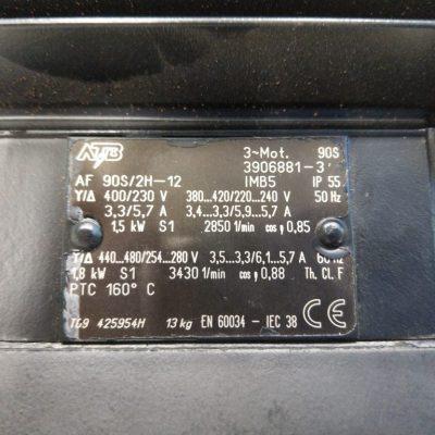 ATB Drehstrommotor Flanschmotor AF90S/2H-12