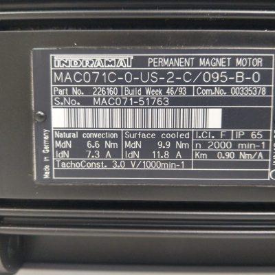Indramat Servomotor 071-C-0-US-2-C/095-B-0