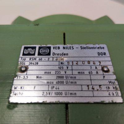 VEB Niles Tachogenerator RSM 60-213 TGL 39420