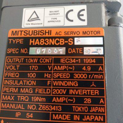 Mitsubishi Servomotor HA83NCB-SS