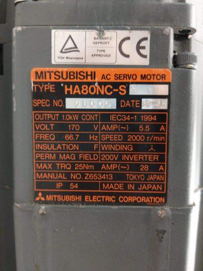Mitsubishi Servomotor HA80NC-SS