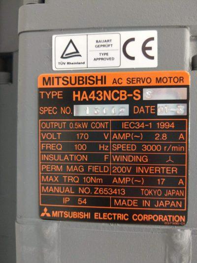 Mitsubishi Servomotor HA43NCB-SS