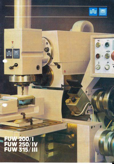 Universal-Konsol-Fräsmaschine AUERBACH WMW Fritz Heckert Ruhla FUW 250 IV und FUW 315 III Stromlaufplan Schaltplan als Download