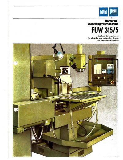 Universal-Konsol-Fräsmaschine AUERBACH WMW Fritz Heckert FUW 315/5 NC mit CNC-H Bedienanleitung als Download