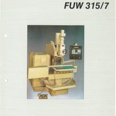 Universal-Konsol-Fräsmaschine AUERBACH WMW Fritz Heckert FUW 315/7 mit CNC-H Bedienanleitung als Download