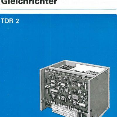 Universal-Konsol-Fräsmaschine AUERBACH WMW Fritz Heckert FUW 250/IV und FUW 315/III Bedienungs- Inbetriebnahme und Wartungsvorschriften für Gleichrichter TDR2 als Download