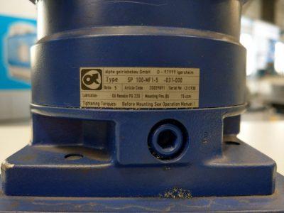 Alpha Getriebebau Planetengetriebe SP100-MF1-5-031-000