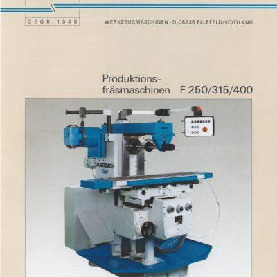 Universal-Konsol-Fräsmaschine AUERBACH F315 Bedienanleitung als Download