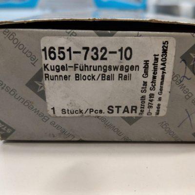 Rexroth Star Führungswagen Kugelwagen 1651-732-10