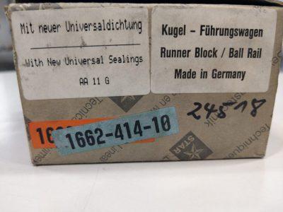 Rexroth Star Kugel-Führungswagen 1662-414-10