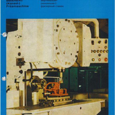 Senkrecht Universal-Konsol-Fräsmaschine AUERBACH WMW Fritz Heckert FSRS 250x1000 NC Bedienanleitung als Download