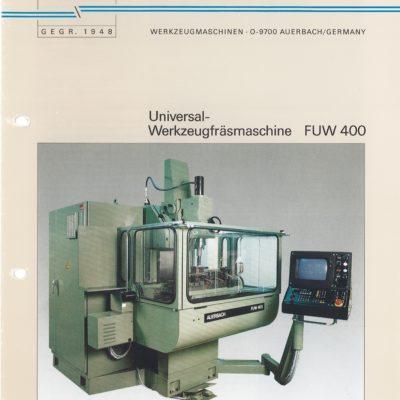 Universal-Konsol-Fräsmaschine AUERBACH WMW Fritz Heckert FUW 400 als Download